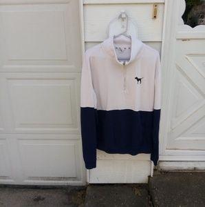 VS PINK color block quarter zip sweatshirt